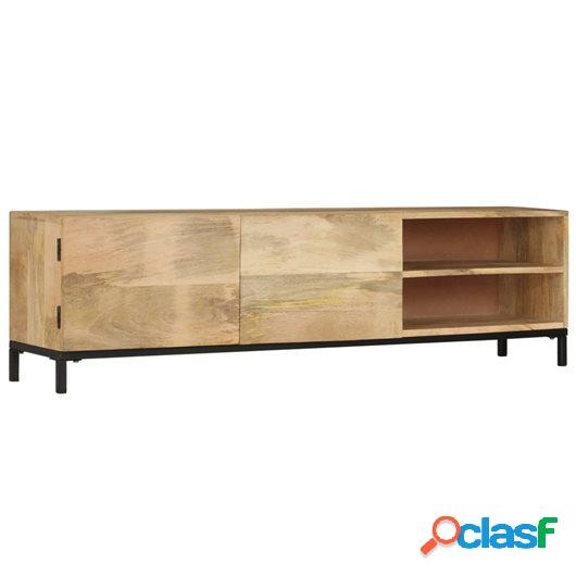 Mueble para TV 145x30x41 cm madera maciza de mango