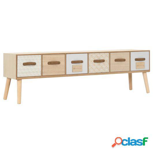 Mueble para TV con 6 cajones madera maciza de pino 130x30x40
