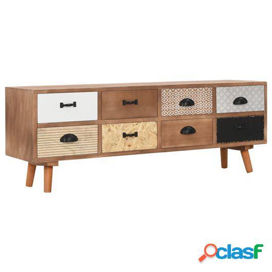 Mueble para TV con 8 cajones madera maciza de pino 120x30x40