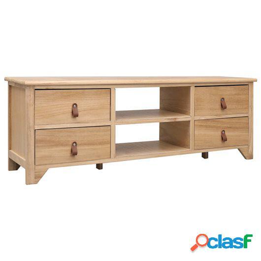 Mueble para TV de madera de Paulownia 115x30x40 cm