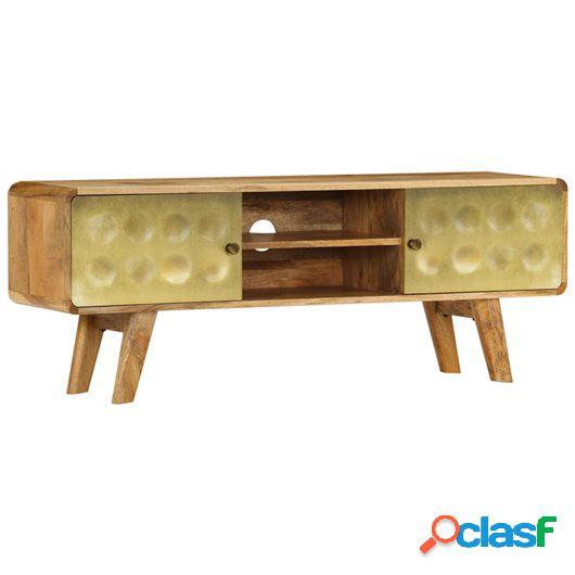 Mueble para TV de madera de mango maciza 120x30x45 cm