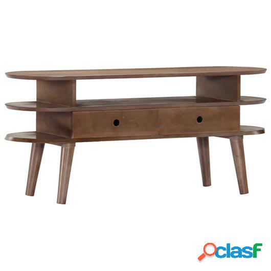 Mueble para TV de madera maciza de acacia 110x35x50 cm