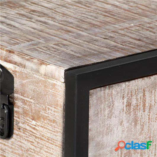 Mueble para TV de madera maciza de acacia 120x30x40 cm