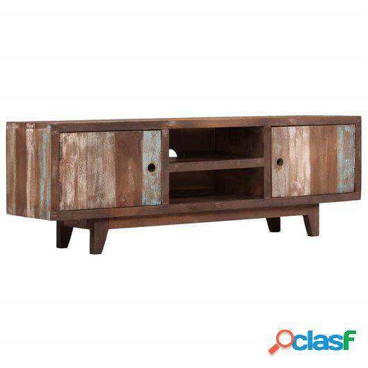 Mueble para TV de madera maciza de acacia vintage 118x30x40