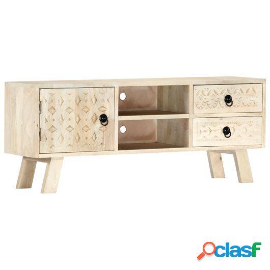 Mueble para TV de madera maciza de mango 110x30x44 cm