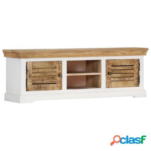 Mueble para TV de madera maciza de mango 118x30x40 cm