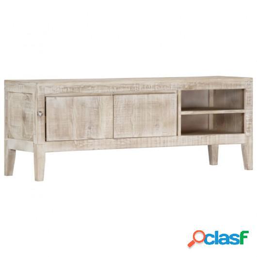 Mueble para TV de madera maciza de mango 118x35x46 cm