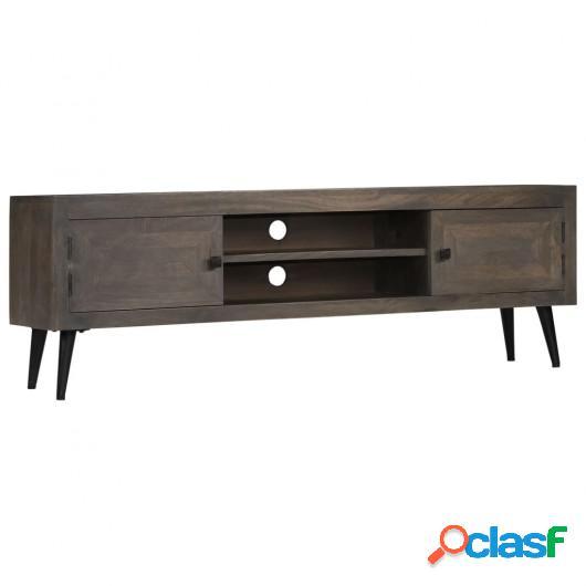 Mueble para TV de madera maciza de mango 140x30x45 cm