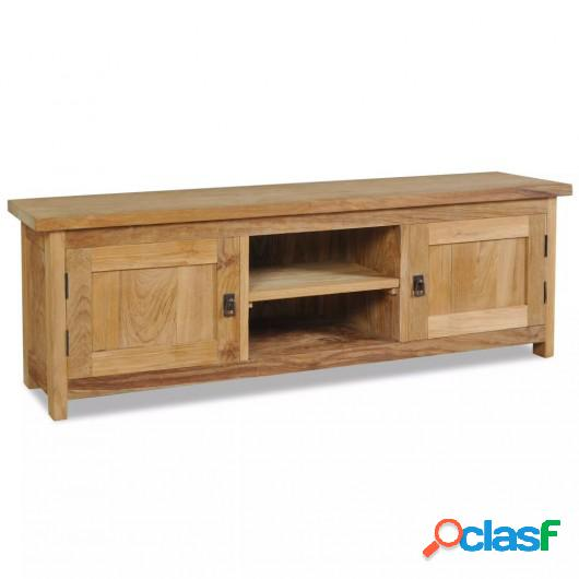 Mueble para TV de madera maciza de teca 120x30x40 cm