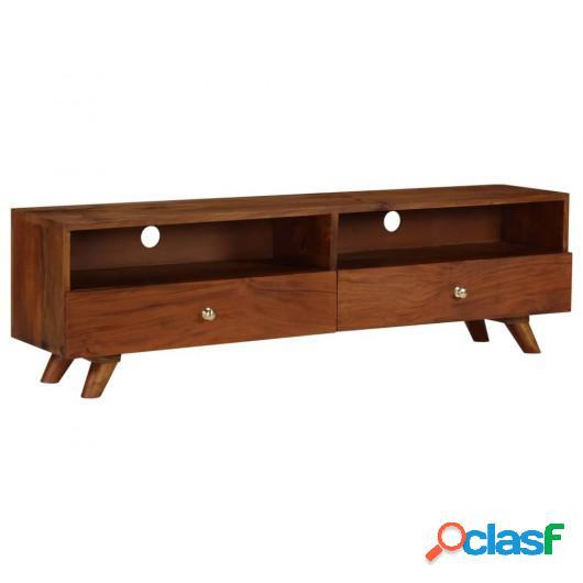 Mueble para TV de madera maciza reciclada 140x30x40 cm