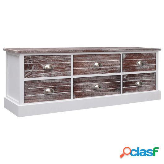 Mueble para TV de madera marrón 115x30x40 cm