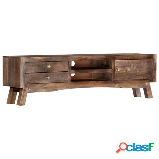 Mueble para TV madera maciza de mango 140x30x40 cm