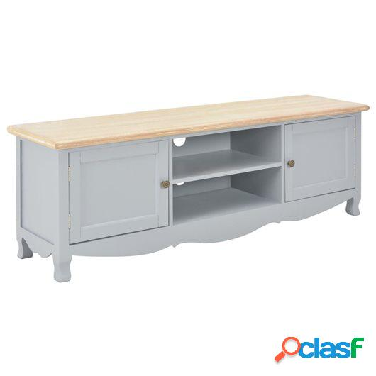 Mueble para TV madera maciza de mango gris 120x30x40 cm