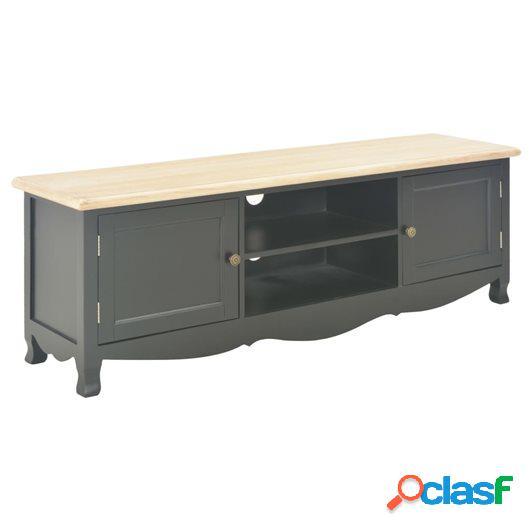 Mueble para TV madera maciza de mango negro 120x30x40 cm