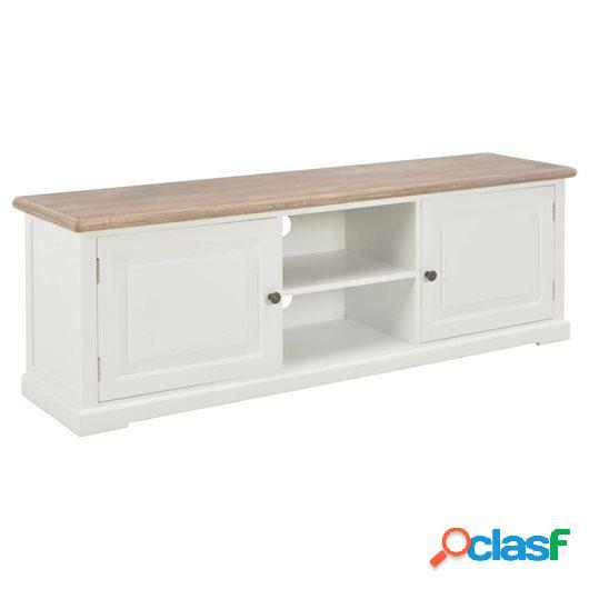 Mueble para el televisor de madera blanco 120x30x40 cm