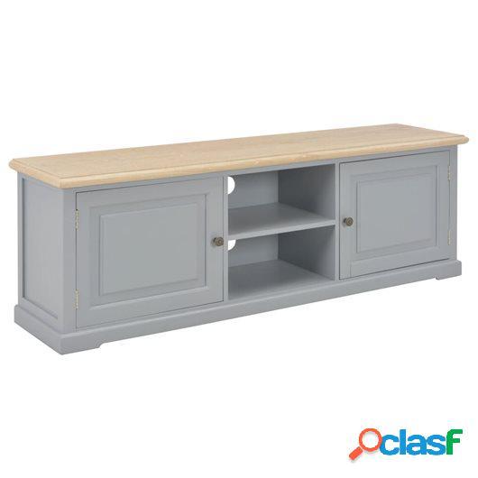 Mueble para el televisor de madera gris 120x30x40 cm