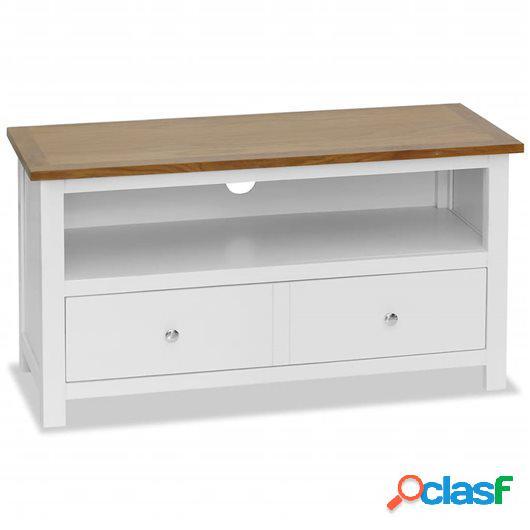 Mueble para el televisor de madera maciza de roble 90x35x48