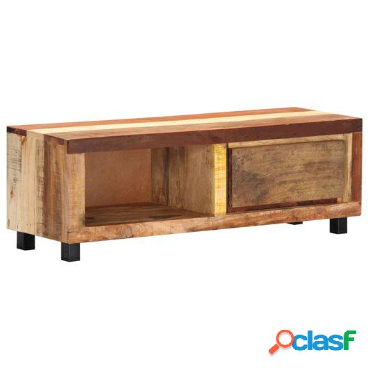 Mueble para la TV 100x30x33 cm madera maciza reciclada