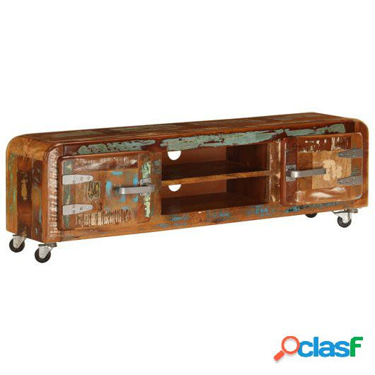 Mueble para la TV 120x30x36 cm madera maciza reciclada