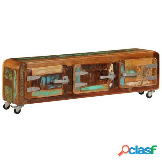 Mueble para la TV 120x30x37 cm madera maciza reciclada