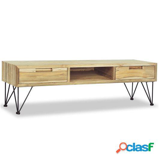 Mueble para la TV 120x35x35 cm de madera maciza de teca