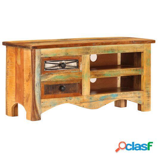 Mueble para la TV 80x30x40 cm madera maciza reciclada
