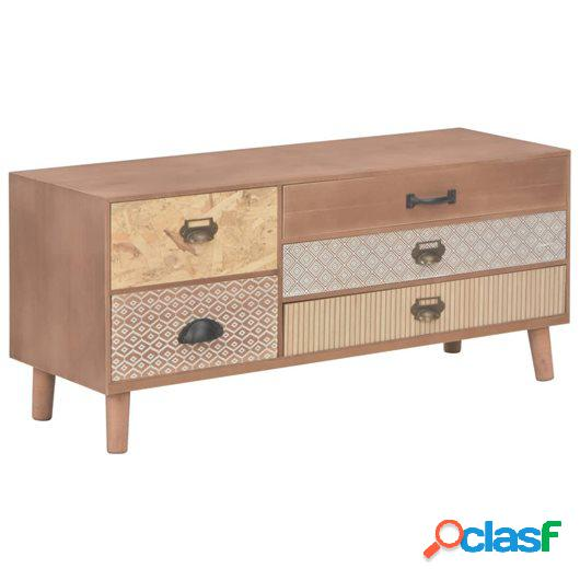 Mueble para la TV con 5 cajones madera maciza pino 90x30x40