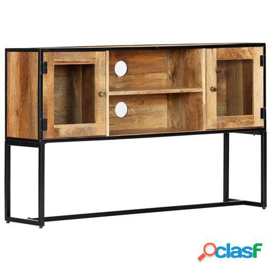 Mueble para la TV de madera maciza reciclada 120x30x75 cm