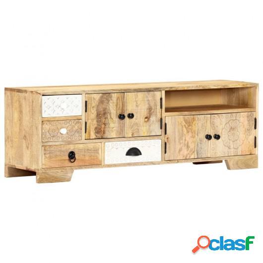 Mueble para la TV madera de mango maciza 120x30x40 cm