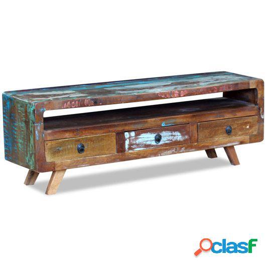 Mueble para la televisión con 3 cajones madera reciclada