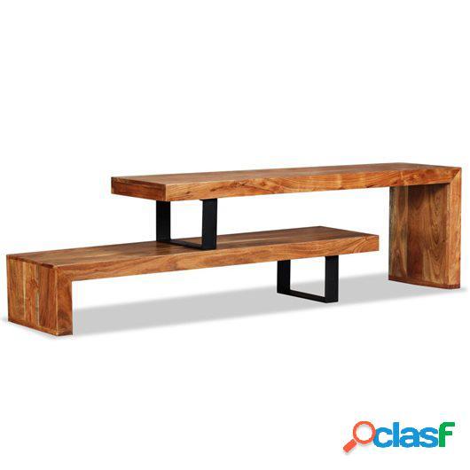 Mueble para la televisión de madera maciza de acacia
