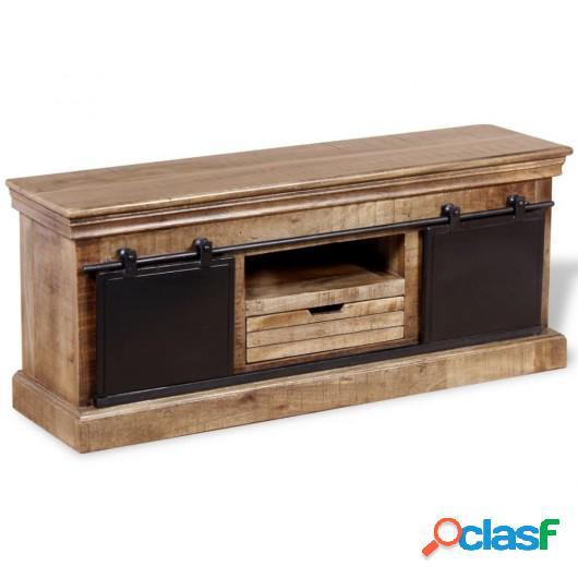 Mueble para la televisión de madera maciza mango 110x30x45