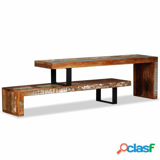 Mueble para la televisón de madera maciza reciclada