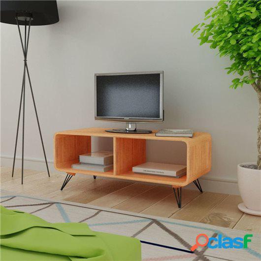 Mueble para televisión/mesa de madera marrón 90x39x38,5 cm