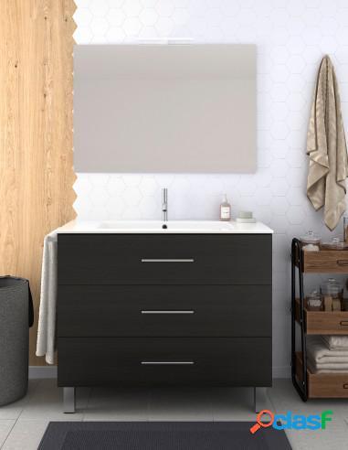 Muebles De Baño Con Cajones Lavabo Y Espejo