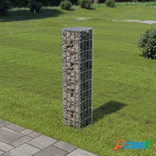 Muro de gaviones con cubiertas acero galvanizado 20x20x100