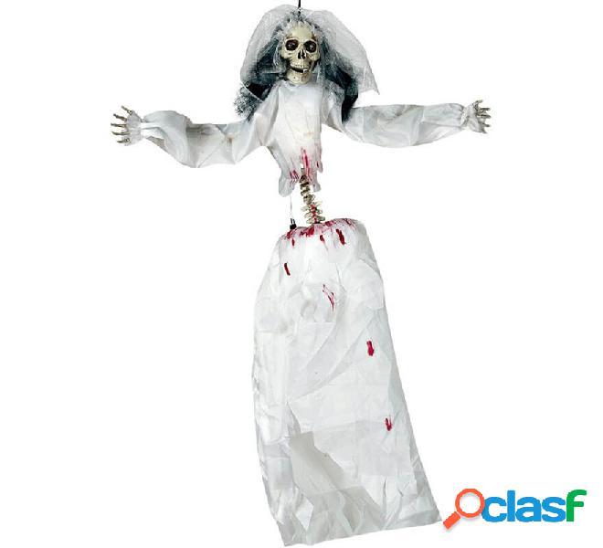 Novia Cadáver Colgante con Luz, Sonido y Movimiento 90 cm
