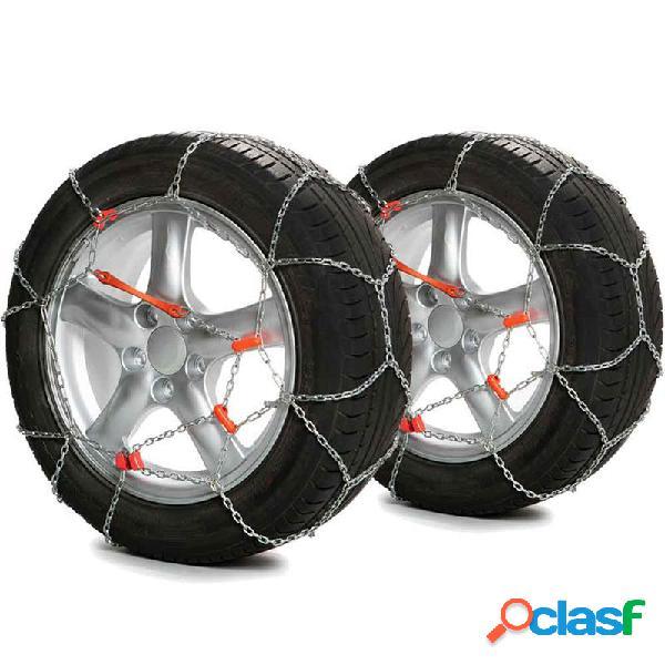 POLARMET70 - Juego 2 Cadenas de nieve con eslabón metálico