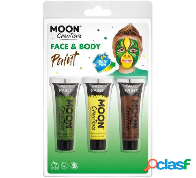 Pack de 3 Maquillajes para Cara y Cuerpo de 12 ml Jungla