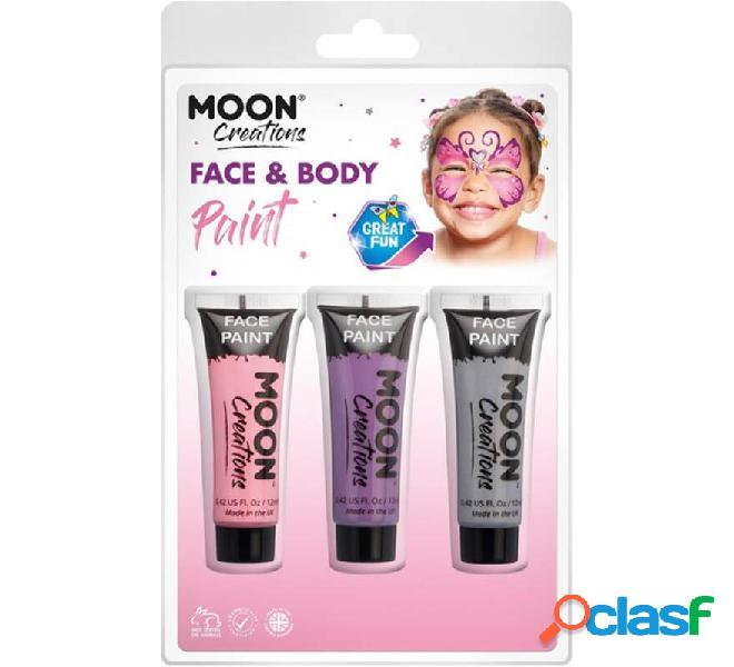 Pack de 3 Maquillajes para Cara y Cuerpo de 12 ml Princess