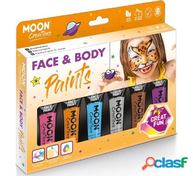 Pack de 6 Maquillajes para Cara y Cuerpo de 12 ml Adventure