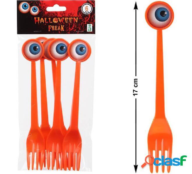 Pack de 6 Tenedores con ojo 18 cm