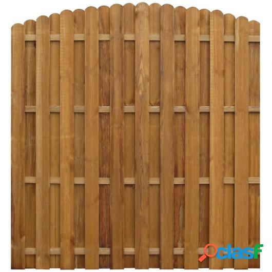 Panel valla de madera de pino impregnada FSC 170x(156-170)