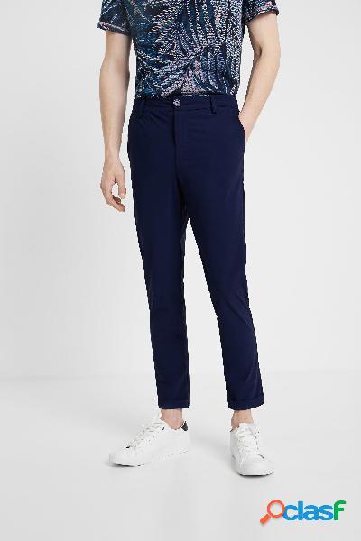 Pantalón azul tejido técnico - BLUE - 34
