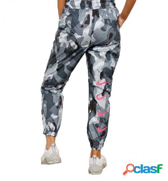 Pantalon Chandal Casual Nike Sportswear Swoosh Gris S