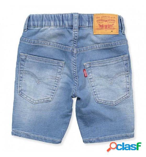 Pantalon Corto Casual Levis Bermmuda Jogger 12 Azul