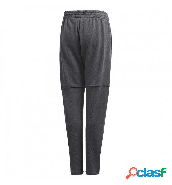 Pantalon Largo Casual Adidas Yb Logo Pant 164 Gris