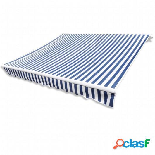 Parte Superior Toldo De Lona Azul & Blanco 6X3M Marco No