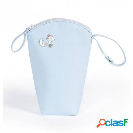 Pasito A Pasito - Funda Biberon Elodie Rosa Y Azul Pasito A