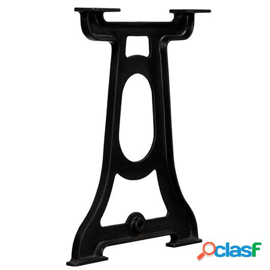 Patas de mesa de comedor 2 uds estructura Y hierro fundido